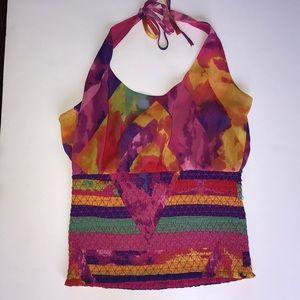 Bebe Multicolor halter top